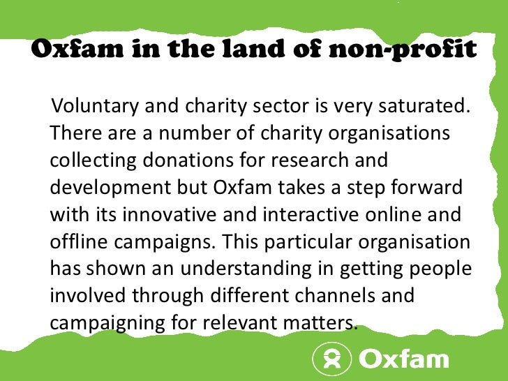 is oxfam a non profit organisation