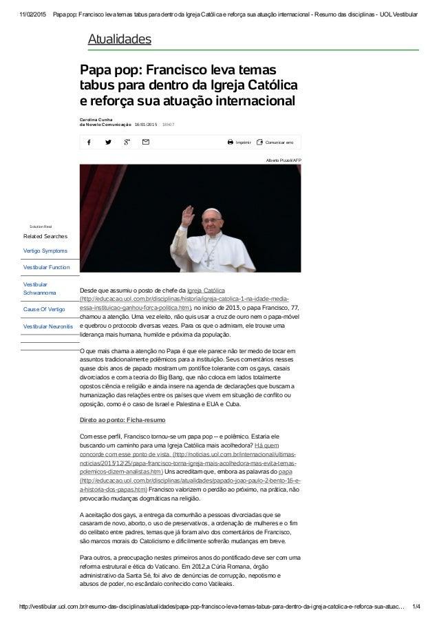 11/02/2015 Papapop:FranciscolevatemastabusparadentrodaIgrejaCatólicaereforçasuaatuaçãointernacionalResum...