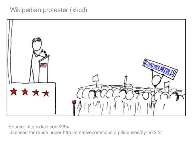 Wikipedian protester (xkcd) Source: http://xkcd.com/285/ Licensed for reuse under http://creativecommons.org/licenses/by-n...