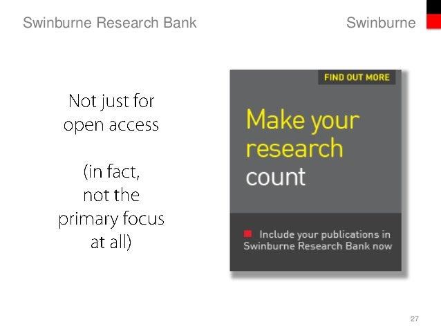 SwinburneSwinburne Research Bank 27