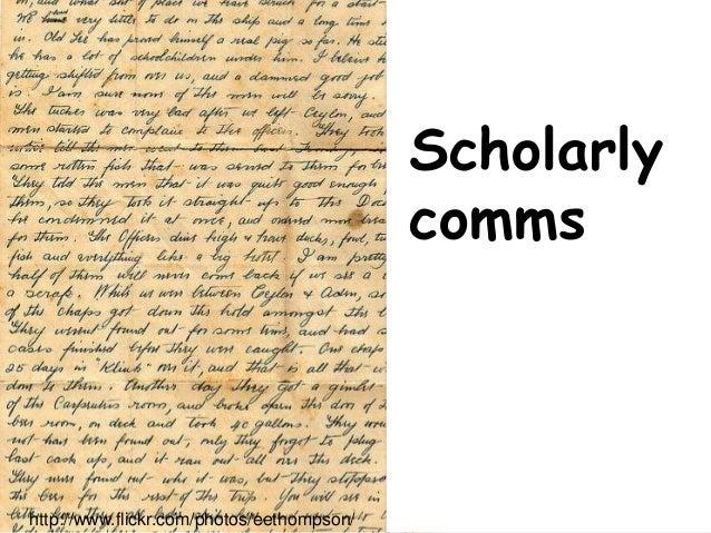 Swinburne Scholarly comms http://www.flickr.com/photos/eethompson/