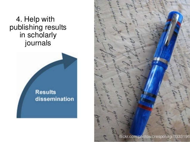 4. Help with publishing results in scholarly journals flickr.com/photos/crespoluigi/33331965