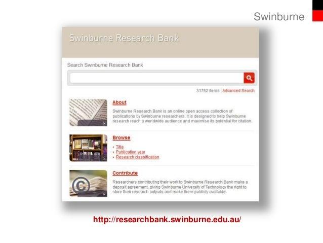 Swinburne http://researchbank.swinburne.edu.au/