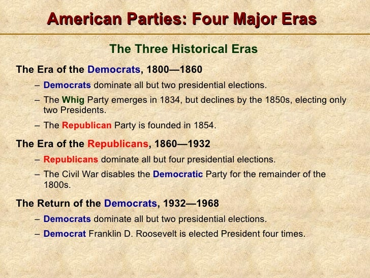 Political party domination