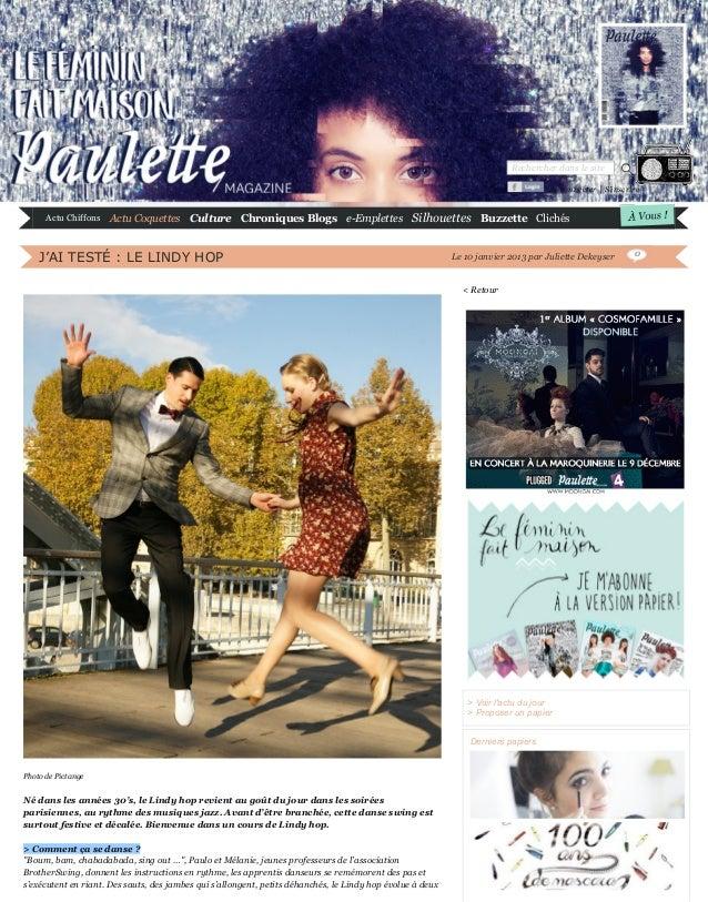 Rechercher dans le site Se connecter | S'inscrire  Actu Chiffons  Actu Coquettes Culture Chroniques Blogs e-Emplettes Silh...