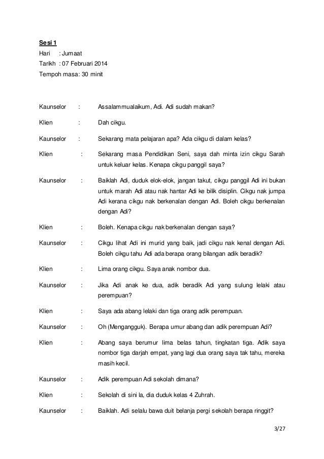 Contoh Dialog Sesi Kaunseling Individu - JobsDB