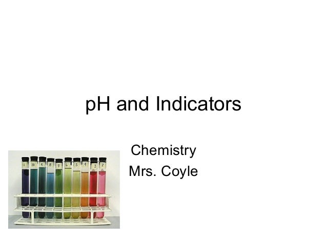 pH and Indicators Chemistry Mrs. Coyle
