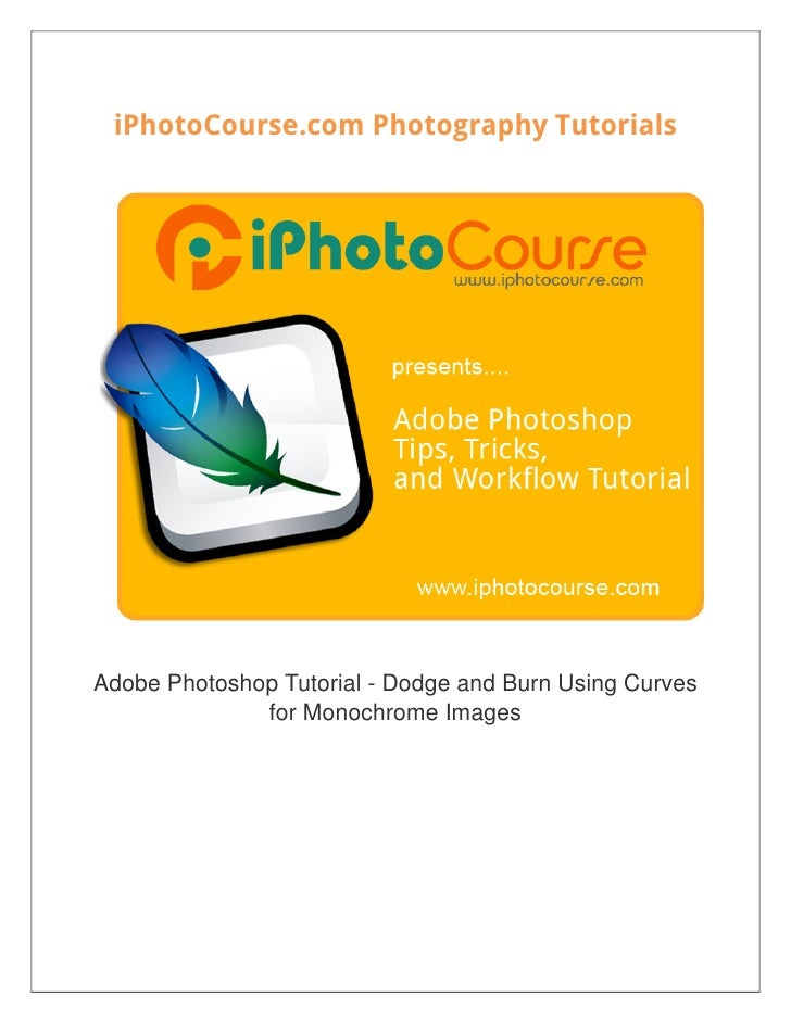 iPhotoCourse.com Photography TutorialsAdobe Photoshop Tutorial - Dodge and Burn Using Curves              for Monochrome I...