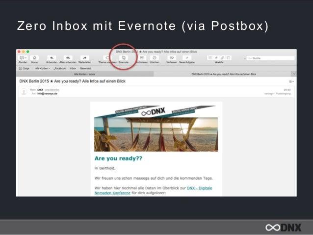 Zero Inbox mit Evernote (via Postbox)