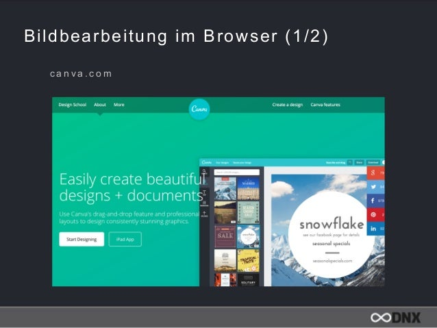 Bildbearbeitung im Browser (1/2) c a n v a . c o m