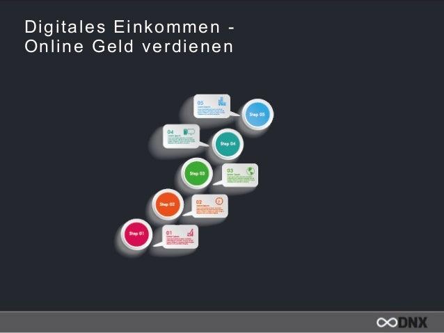 Digitales Einkommen -  Online Geld verdienen