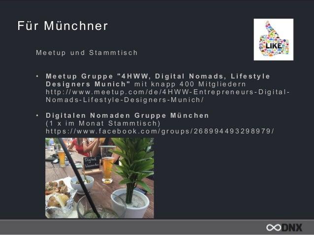 """Für Münchner M e e t u p u n d S t a m m t i s c h  • M e e t u p G r u p p e """" 4 H W W, D i g i t a l N o m a d s , L i ..."""