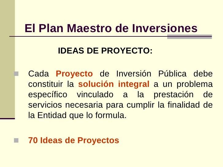 2 plan maestro de inversiones y gestion de proyectos - Gestion integral de proyectos ...