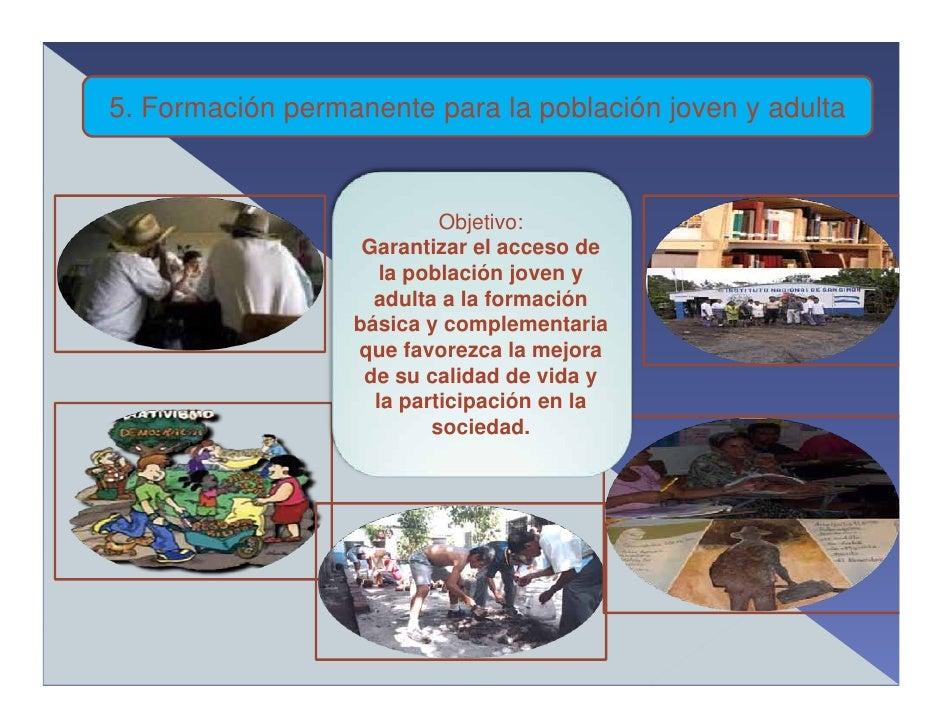 5. Formación permanente para la población joven y adulta                              Objetivo:                    Garanti...