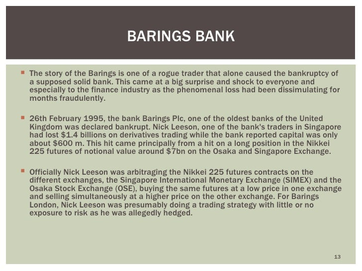barings bank plc leeson s lessons Before her controversial engagement to rob kardashian, blac chyna was part of  kim's inner circle and even joined her for a pole fitness class.