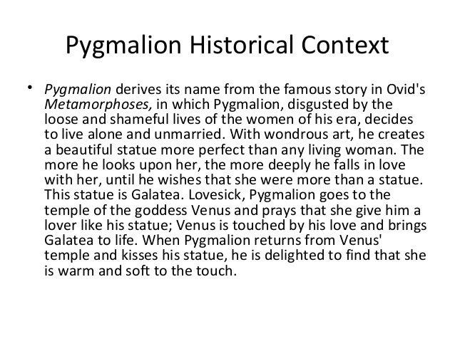 pygmalion short summary