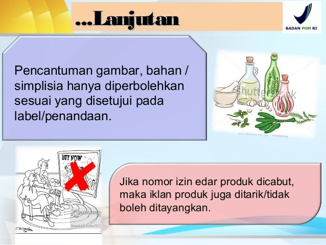 Pendaftaran Iklan Obat Tradisional dan Suplemen Makanan