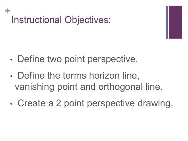 Horizon Line Art Definition : Point perspective lesson