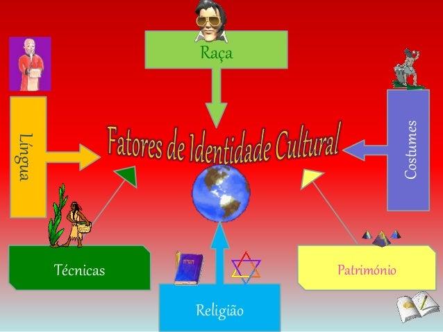 Raça  Religião  Costumes  Língua  Técnicas Património