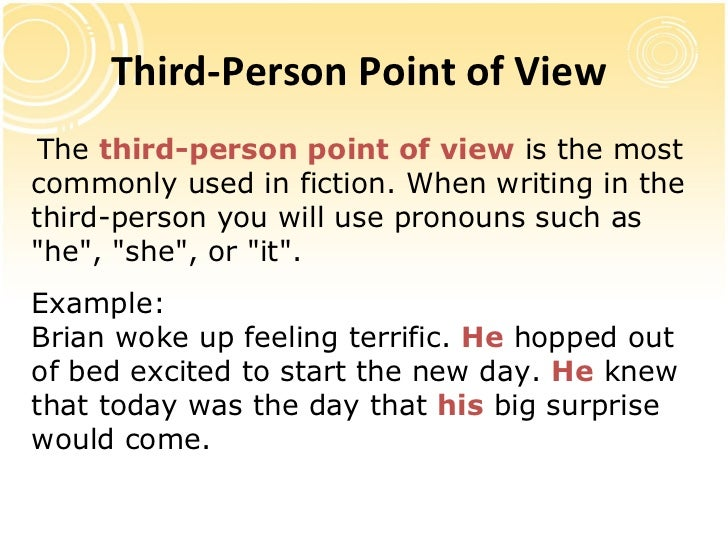 Examples of Point of View in Literature