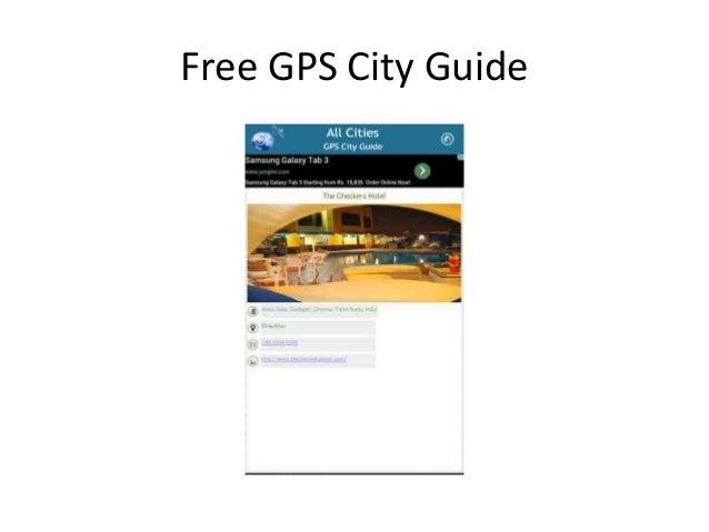 Free GPS City Guide