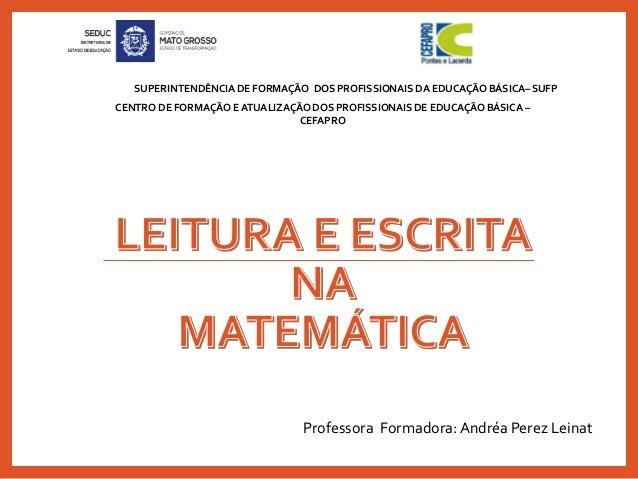 CENTRO DE FORMAÇÃO E ATUALIZAÇÃO DOS PROFISSIONAIS DE EDUCAÇÃO BÁSICA –CEFAPROSUPERINTENDÊNCIA DE FORMAÇÃO DOS PROFISSIO...
