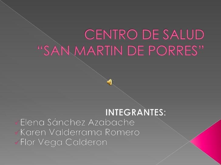 C s san martin de porres actividades promsa - Centro de salud aravaca ...