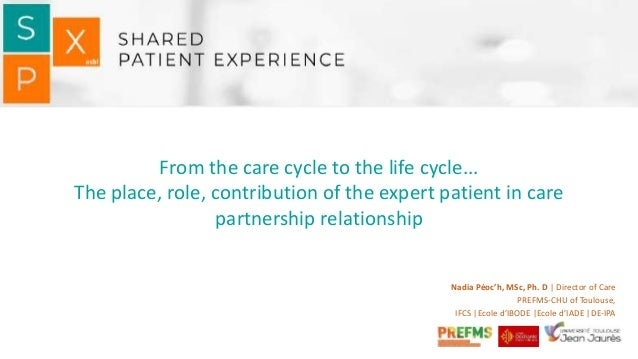 From the care cycle to the life cycle... The place, role, contribution of the expert patient in care partnership relations...