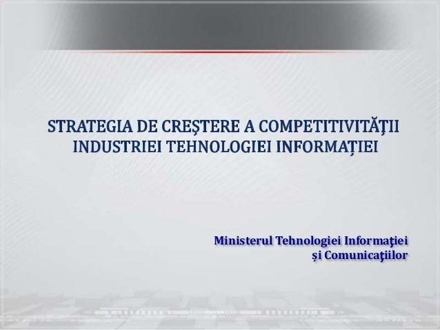 Ministerul Tehnologiei Informației                 și Comunicațiilor