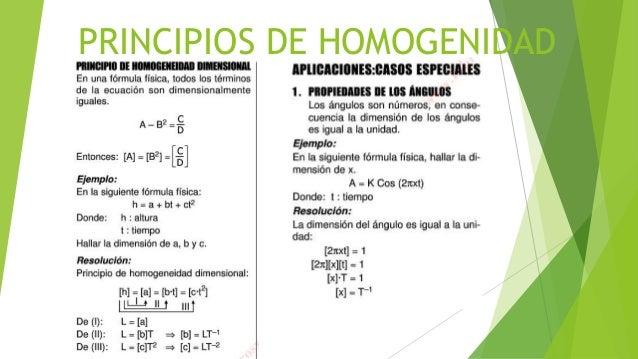 PRINCIPIOS DE HOMOGENIDAD