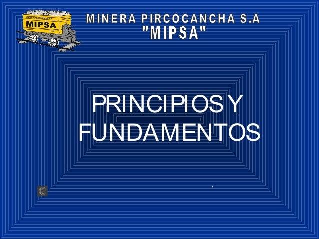 PRINCIPIOSY FUNDAMENTOS .