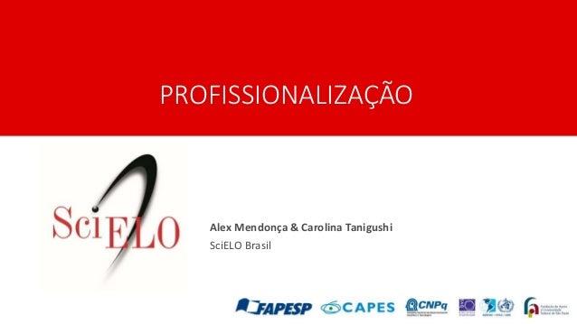 PROFISSIONALIZAÇÃO Alex Mendonça & Carolina Tanigushi SciELO Brasil