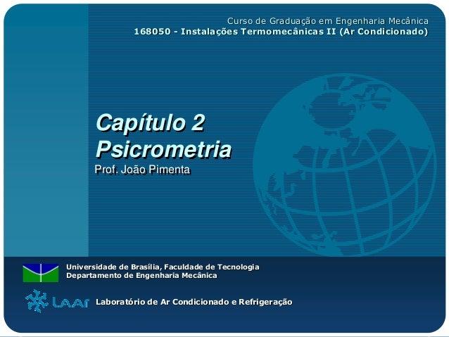 Curso de Graduação em Engenharia Mecânica                 168050 - Instalações Termomecânicas II (Ar Condicionado)       C...
