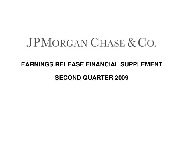 EARNINGS RELEASE FINANCIAL SUPPLEMENT SECOND QUARTER 2009
