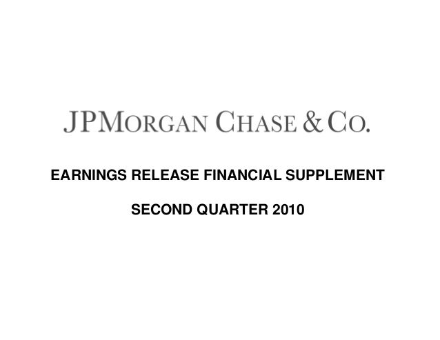 EARNINGS RELEASE FINANCIAL SUPPLEMENT SECOND QUARTER 2010