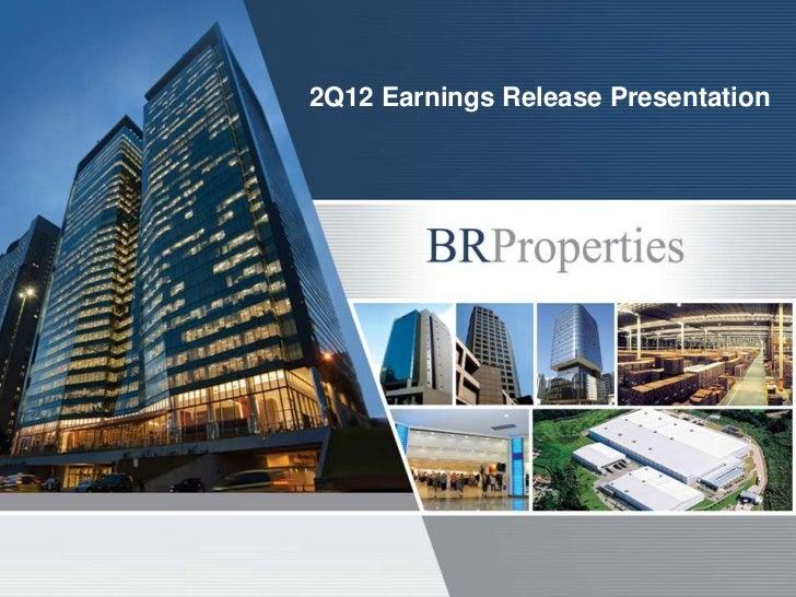 2Q12 Earnings Release Presentation