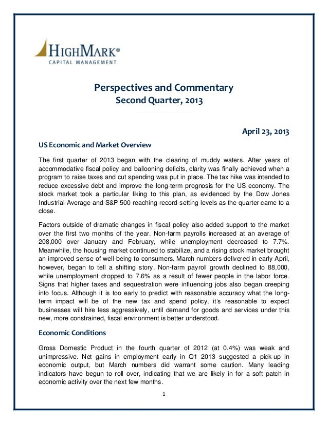 2Q 2013 NIFCU$ Perspectives and Commentary (Article)