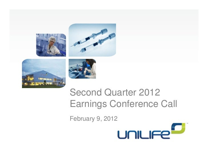 Second Quarter 2012Earnings Conference CallFebruary 9, 2012
