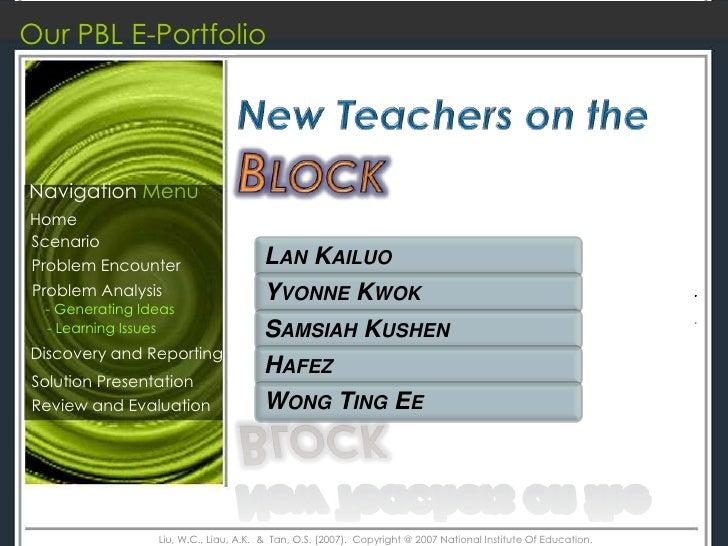 Our PBL E-Portfolio     Navigation Menu Home Scenario Problem Encounter                      LAN KAILUO Problem Analysis  ...