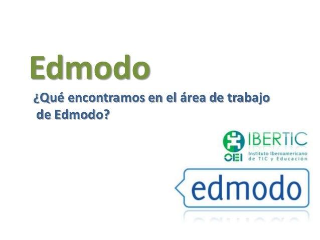 Edmodo¿Qué encontramos en el área de trabajode Edmodo?