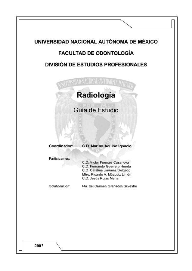 2002 UUNNIIVVEERRSSIIDDAADD NACIONAL AUTÓNOMA DE MÉXICO FFAACCUULLTTAADD DDEE OODDOONNTTOOLLOOGGÍÍAA DDIIVVIISSIIÓÓNN DDEE...