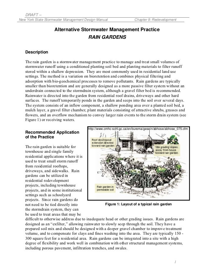 DRAFT –New York State Stormwater Management Design Manual                     Chapter 9: Redevelopment                    ...