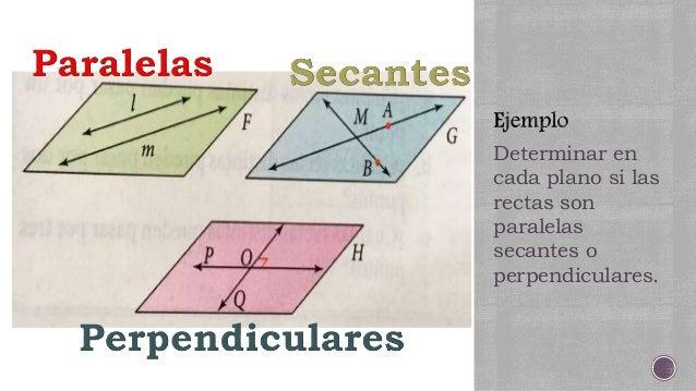 Rectas Paralelas Secantes Y Perpendiculares