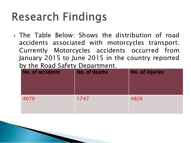 Research Proposal on Road Traffic Accidents