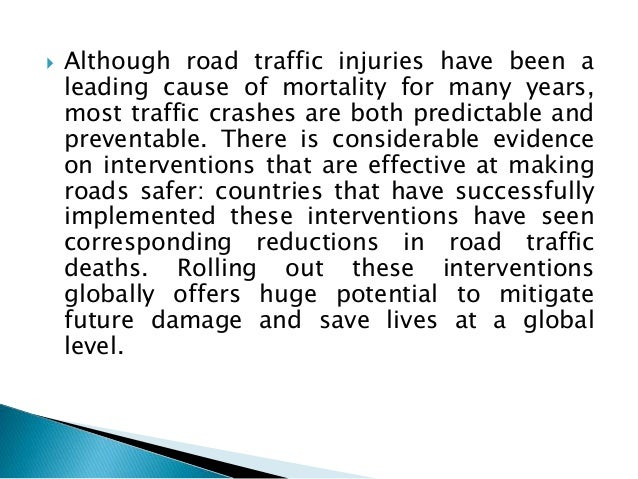traffic safety research papers The association of american railroads (aar) today reported u freight transportation passenger transportation traffic safety research papers safety & human factors terminals & facilities the private participation in infrastructure (ppi) project database has data on over 6,400 infrastructure projects in 139 low- and middle-income countries.