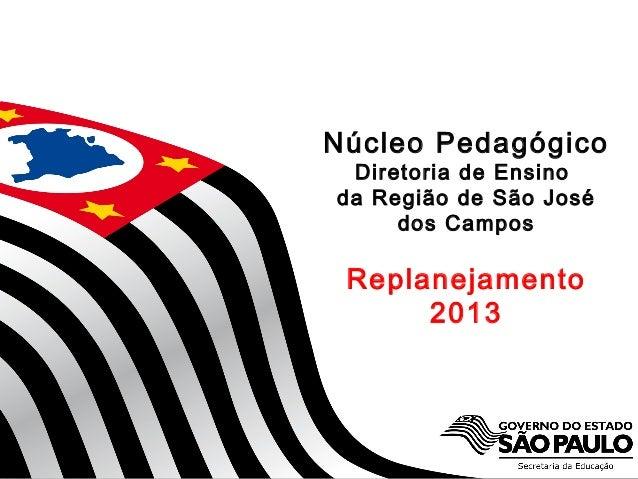 SECRETARIA DA EDUCAÇÃO Coordenadoria de Gestão da Educação Básica Núcleo Pedagógico Diretoria de Ensino da Região de São J...
