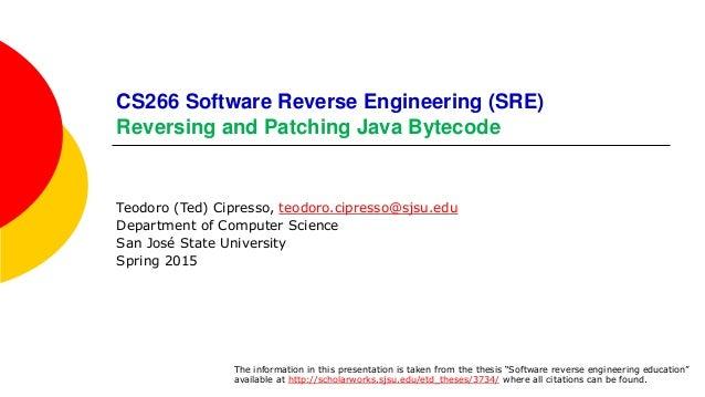 Reversing and Patching Java Bytecode