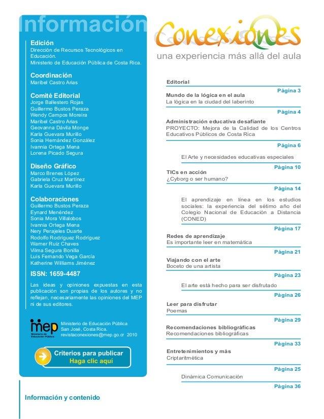2revistaconexiones2011 Slide 2