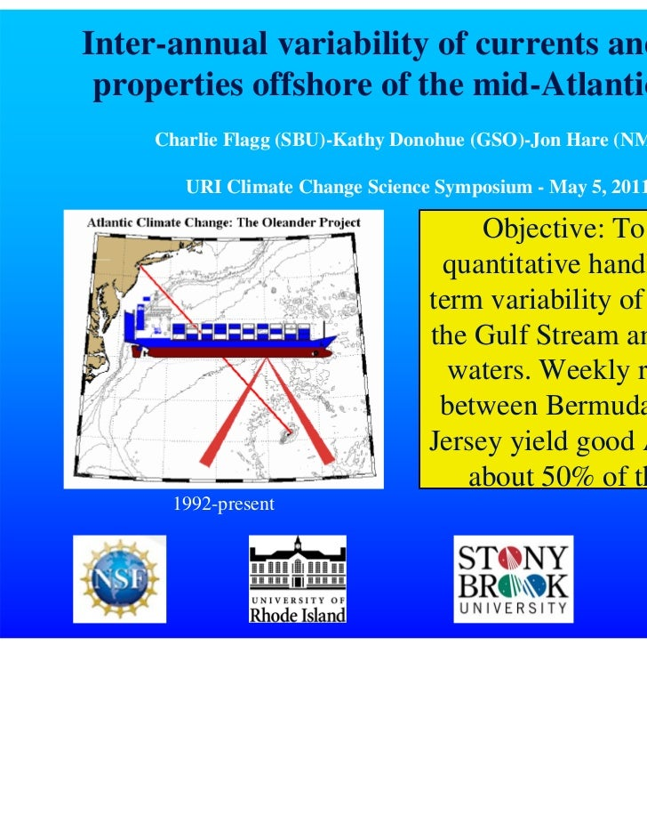 Inter-annual variability of currents and water properties offshore of the mid-Atlantic bight     Charlie Flagg (SBU)-Kathy...