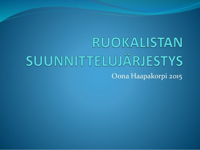 Oona Haapakorpi 2015